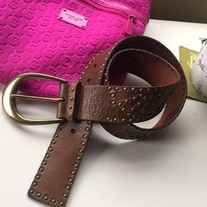 Michael Kors Brown leather belt 🌺❤️